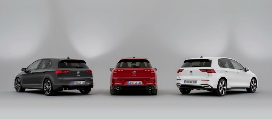 The new Volkswagen Golf GTI, GTD and GTE
